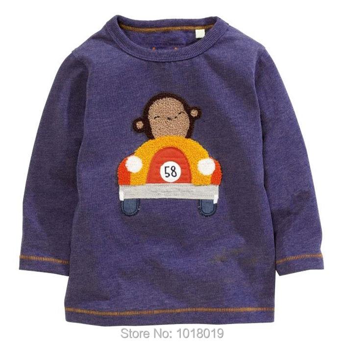 New 2017 Branded 100% Cotton Baby Boys t shirts Kids Clothing Clothes Children Long Sleeve t-shirts Boys Blouse Undershirts Boys
