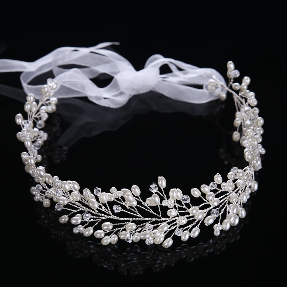 Hot sale crystal beads hair jewelry pearl bridal hair for Decor jewelry
