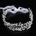 Venda quente contas de Cristal Jóias Cabelo Pérola Acessórios Para o Cabelo Tiara de Noiva Elegante Pinos de Cabelo Coroas Tiaras Headbands CY161117-09