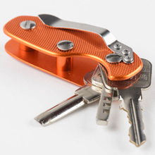 2018 Outdoor Portable Smart Aluminum Key Holder Organizer Clip Folder Key Ring Key Chain Case Pocket
