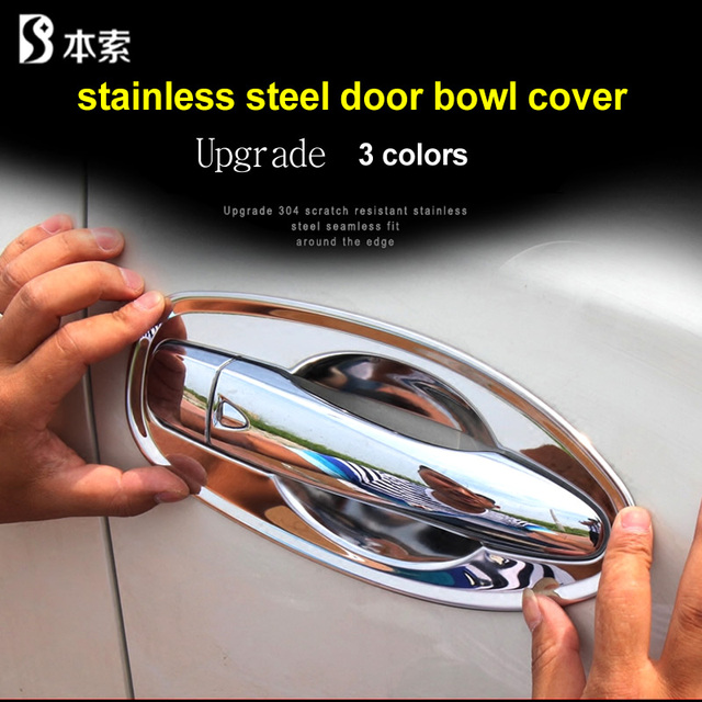 Car styling door handle cover door handle bowl trim fit for x-trail t32 rogue xtrail 2014-2019 stainless steel accessories