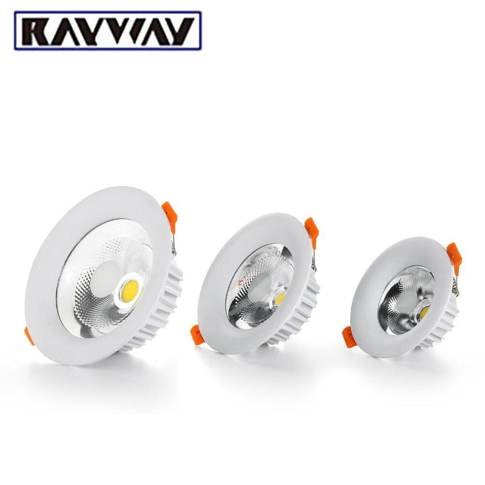 Downlight do diodo emissor de luz Pode Ser Escurecido 5 W 7 W 10 W 15 W 20 W 25 W Recesso levou COB Teto local lâmpada do painel para cozinha sala luz 110 v 220 v