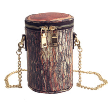 2016 New Arrival Small Chain Crossbody Bag for Women Mini Barrel-shaped PU Leather Shoulder Bag High Quality Messenger Bags