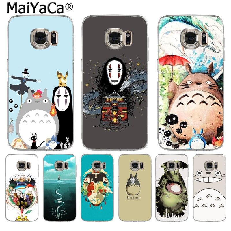 MaiYaCa Carton Studio Ghibli Spirited Away Totoro Phone Case for Samsung S3 S4 S5 S6 S6edge S6plus S7 S7edge S8 S8plus