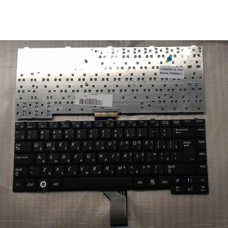 Russian Laptop Keyboard For SAMSUNG NP- R60 R70 R510 R560 P510 P560 RU Black CNBA5902295 V072260AS1 BA59-02295C