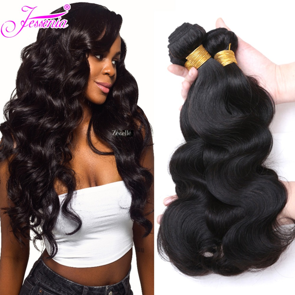 Body Wave Bundles Brazilian Hair Weave Bundles 100% Human Hair Bundles Natural Color Cheap Brazilian Body Wave 4 Bundles(China)