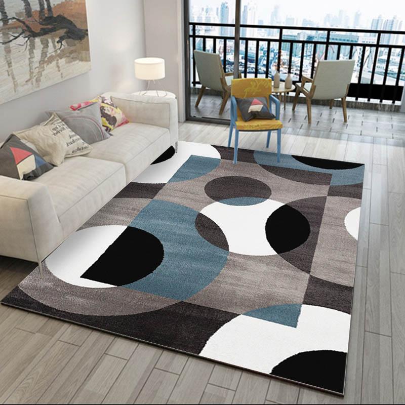 Alfombras nrdicas modernas para sala de estar decoracin