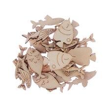 20 unids/set de motivo de peces decoración Scrapbook artesanía decoración para mesa de fiesta Vintage Chic de Día de San Valentín ornamento