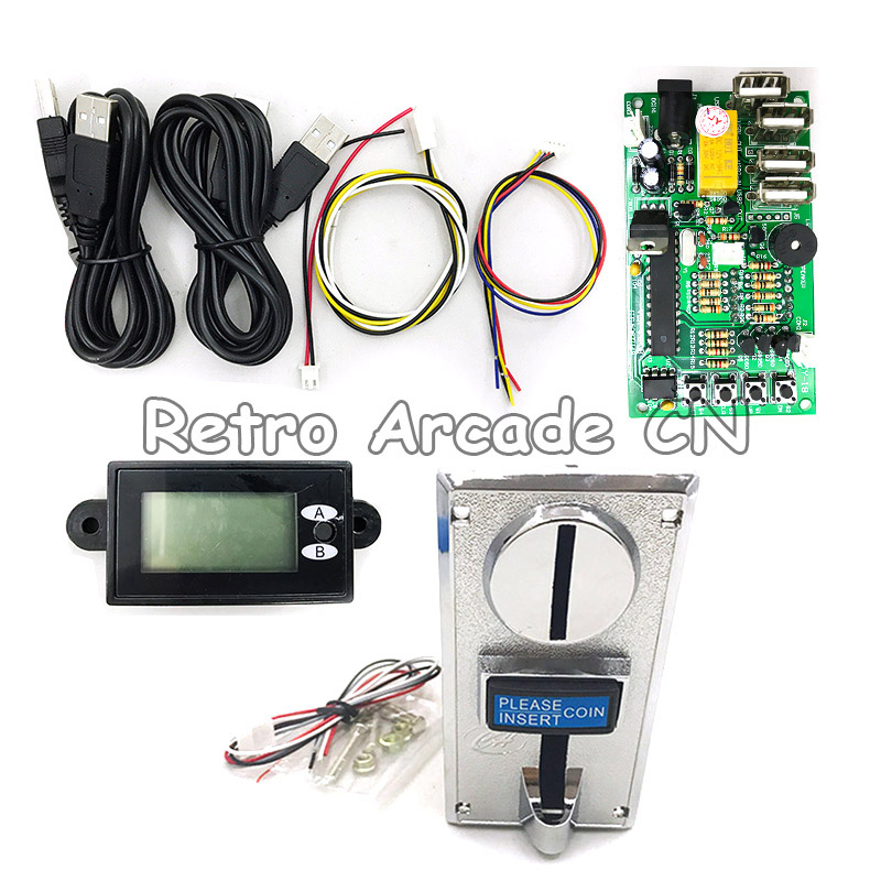 Multi Coin Acceptor Selector CH 926 and JY 18A Timer Control Board USB for Vending Machine