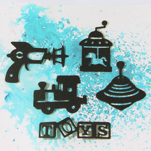 JC Metal Cutting Dies for Scrapbooking Gun UFO Train Toys Cut Craft Stencil Handmade Cards Making Model Template Decoration