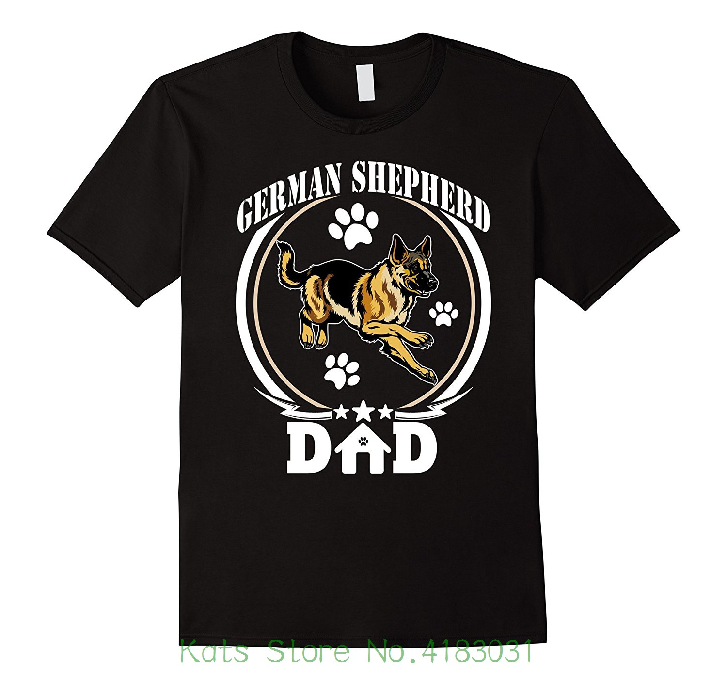 German Shepherd Dad T-shirt Gift For Fathers Day 2018 Dog Hot New 2018 Summer Fashion T Shirts