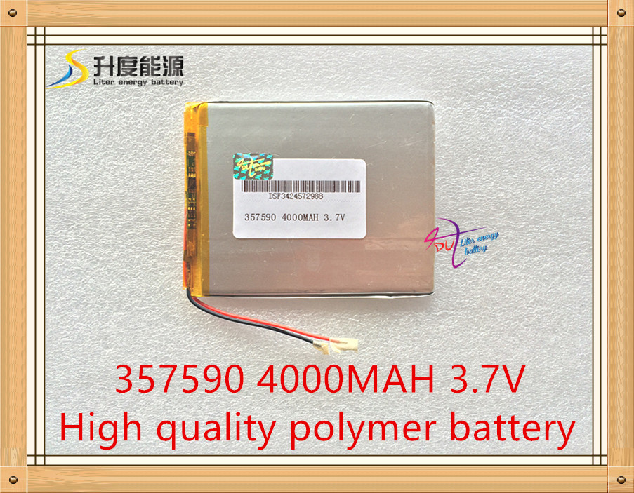 1PCS Size 357590 3.7V 4000mah Lithium Tablet polymer battery with Protection Board For P ...
