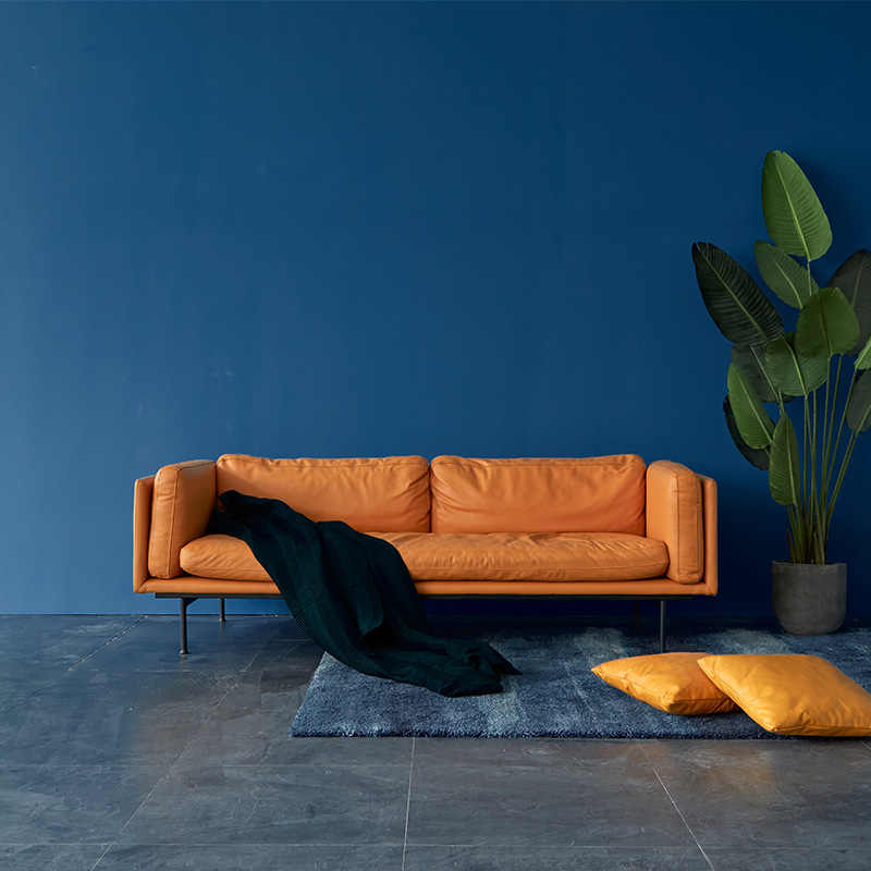 Simple modern italy genuine leather sofa