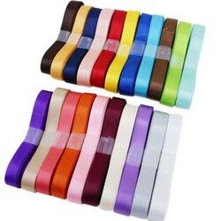 (23 couleurs mélangées) 10mm double face satin polyester rubans gros noël rubans 1 lot = 23 yards