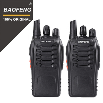 2  PCS Baofeng BF-888S Walkie Talkie 5W Two-way radio Portable CB Radio UHF 400-470MHz 16CH Comunicador Transmitter Transceiver brand new black white color frsky accst taranis q x7 qx7 2 4ghz 16ch transmitter