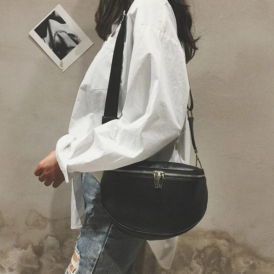 Pure Color Leather Shell Messenger Shoulder Bag Bust Bag Crossbody Bag Money Phone Travel Hottest