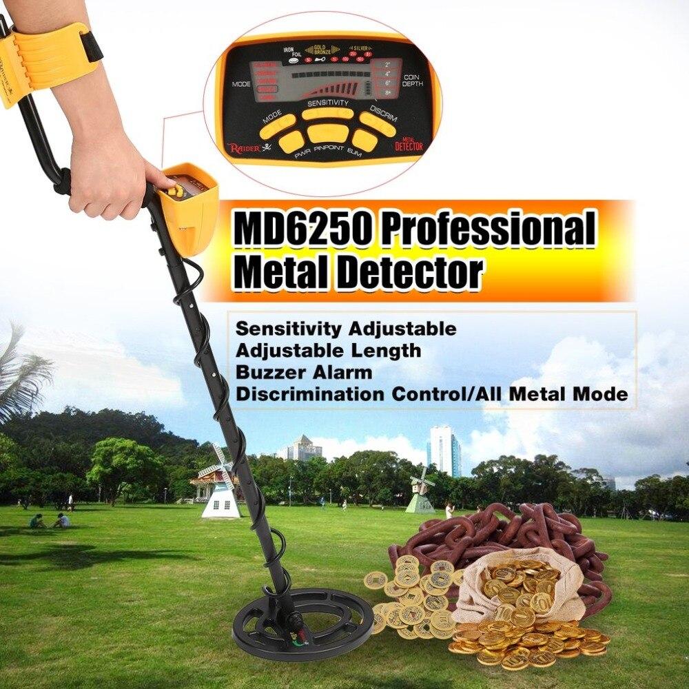 ACEHE MD6250 Professionale Portatile Mini Metropolitana Metal Detector Palmare Treasure Hunter Gold Digger Finder Lunghezza Regolabile