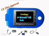 Wholesale 2014 New CMS50D Pluse Pulse Oximeter With USB Software 24 Hours Sleeping Monitor 5pcs