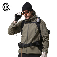 CQB Brand Outdoor Sport Tactical Jackets Men Clothes Camping Climbing Hiking Jackets Softshell Fleece Waterproof Coat
