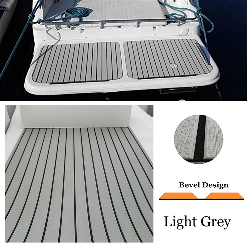 EVA Boat Teak Decking Sheet Yacht Marine Flooring Carpet Adhesive 60/90/120cm240cm Light Grey In Black Bevel Marine Accessories(China)