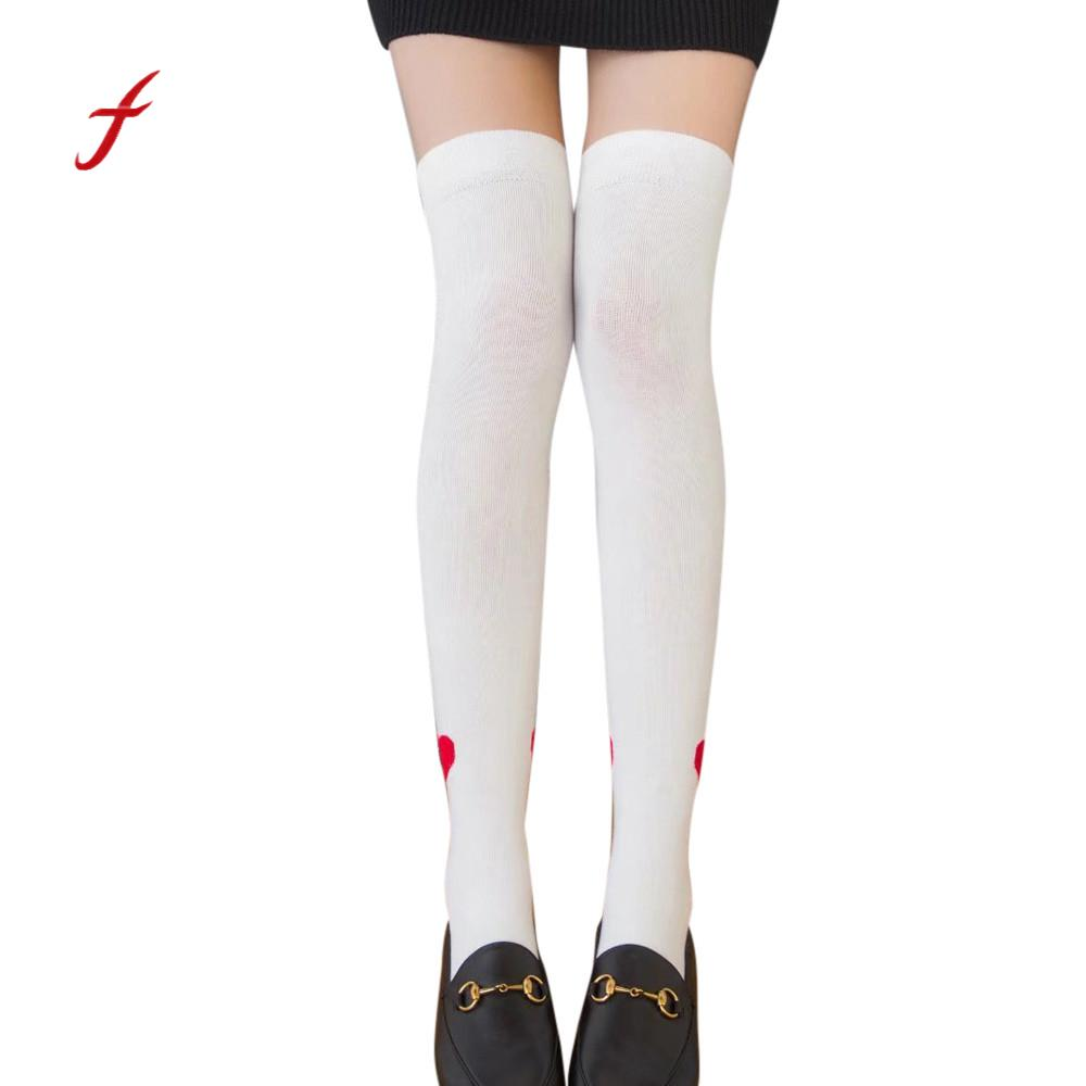 4e2f3a2ae Women Sexy Stocking Thigh High Long Cotton Stockings Over The Knee Socks  Women Heart Socks Ladies Girls Cotton Warm Soft Sox-in Stockings from  Underwear ...