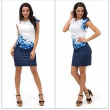 3XL Plus Size Women Summer Dresses Sexy Slim Bodycon Work Dress Short Sleeve Print Package Hip Pencil Office Lady Dress Vestidos
