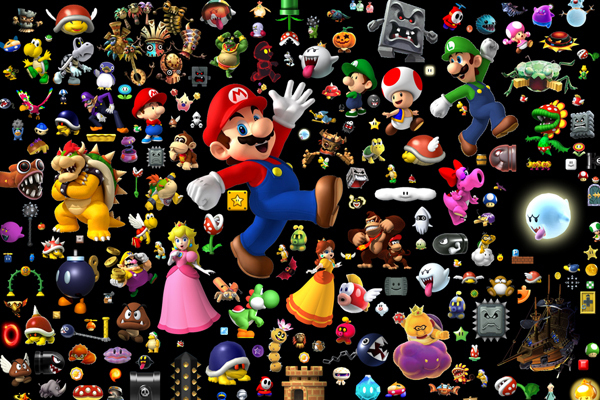 20x30 Inch Living Room Decoration Stickers Home Decor Super Mario Cool Posters House Decoration
