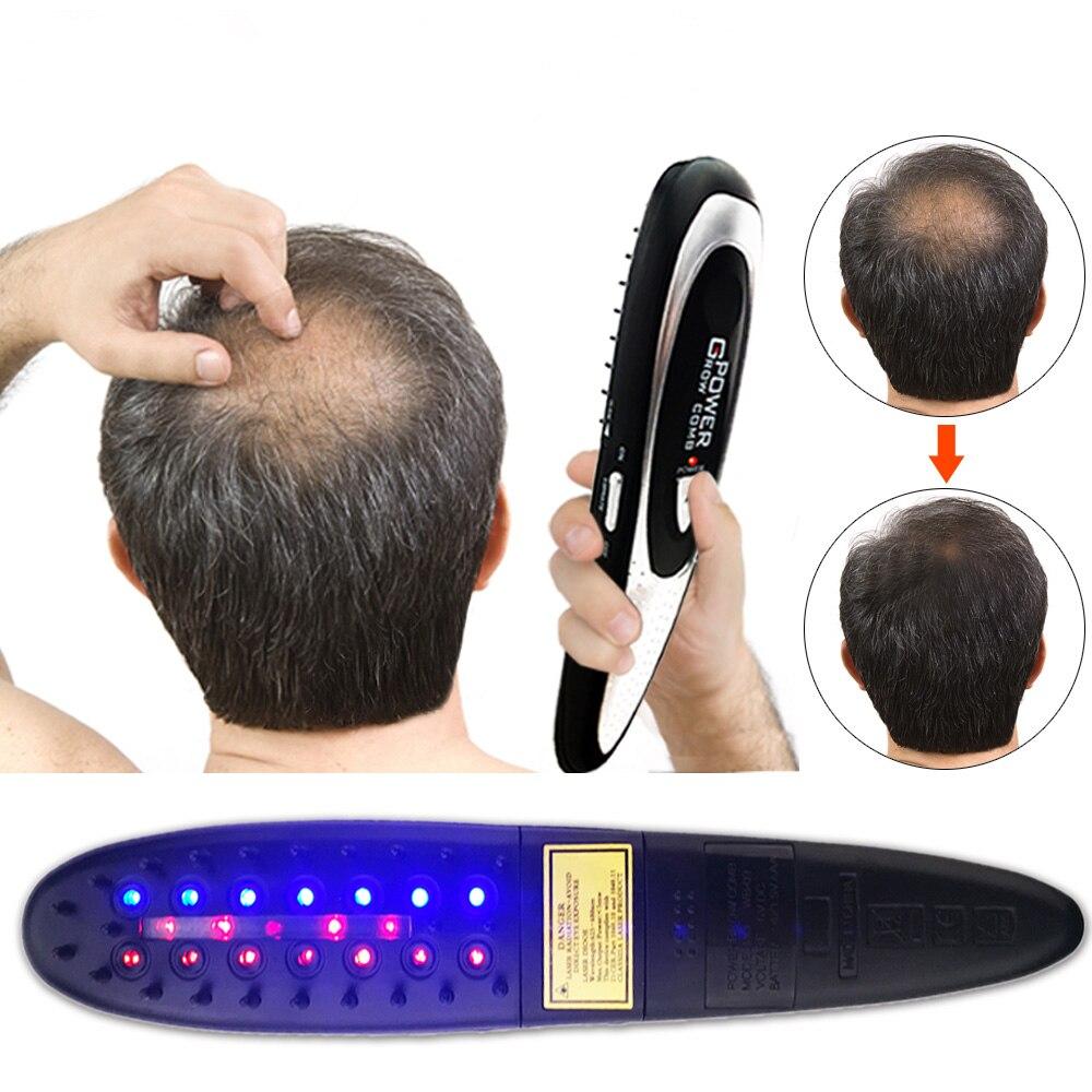 Электрическая лазерная массажная расческа против выпадения волос