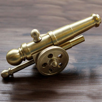 High Quality Brass Napoleon Cannon Ornaments EDC Outdoor Camping Pocket Tool Cafe Desk Pieces Bar Decoration Crafts Decorations