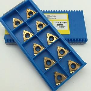 Image 2 - 10pcs 16IR 0.5 0.75 1.0 1.5 1.75 2.0 2.5 3.0ISO SMX30 Carbide Insert For Threading Turning Tool Boring BAR blade