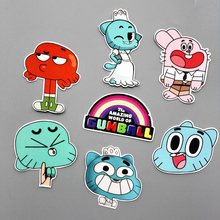 ФОТО 2 Combinations Funny Anime The Amazing World of Gumball Sticker  Car Laptop Backpack Motorcycle Phone Decal Kids Toy Sticker