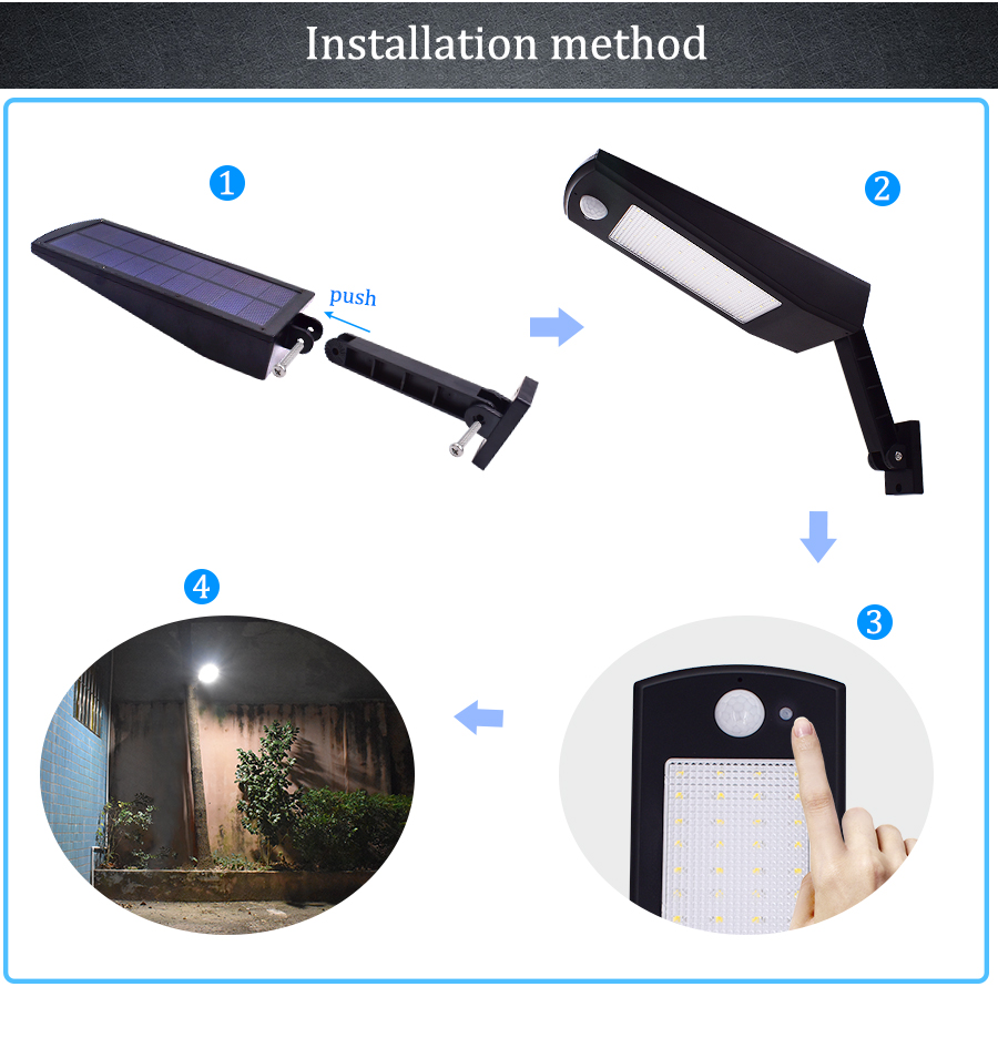 Waterproof and Motion Sensor Outdoor Solar Light with 48 LED and Rotatable Pole for Stairs and Yard 17