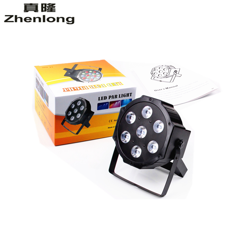 Zhenlong New High Quanlity 7*10W DMX512 / Master-slave/ Auto/Sound PAR Can Slim Par Light LED Flat Par 64 RGBW 4 In 1 Tri LED high quanlity bitter melon extract charantin 10