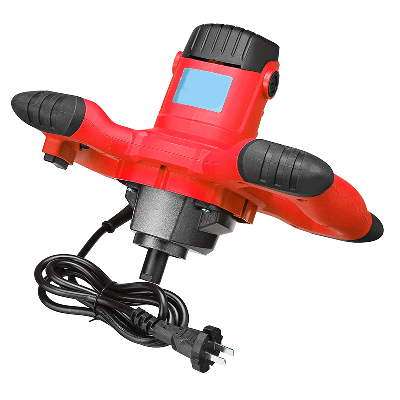 2000W 800RPM 220V 6 Speed Paddle Industrial Electric Mixer Stirrer Red Handheld Machine For Paint Concrete Cement Mortar Glue2000W 800RPM 220V 6 Speed Paddle Industrial Electric Mixer Stirrer Red Handheld Machine For Paint Concrete Cement Mortar Glue
