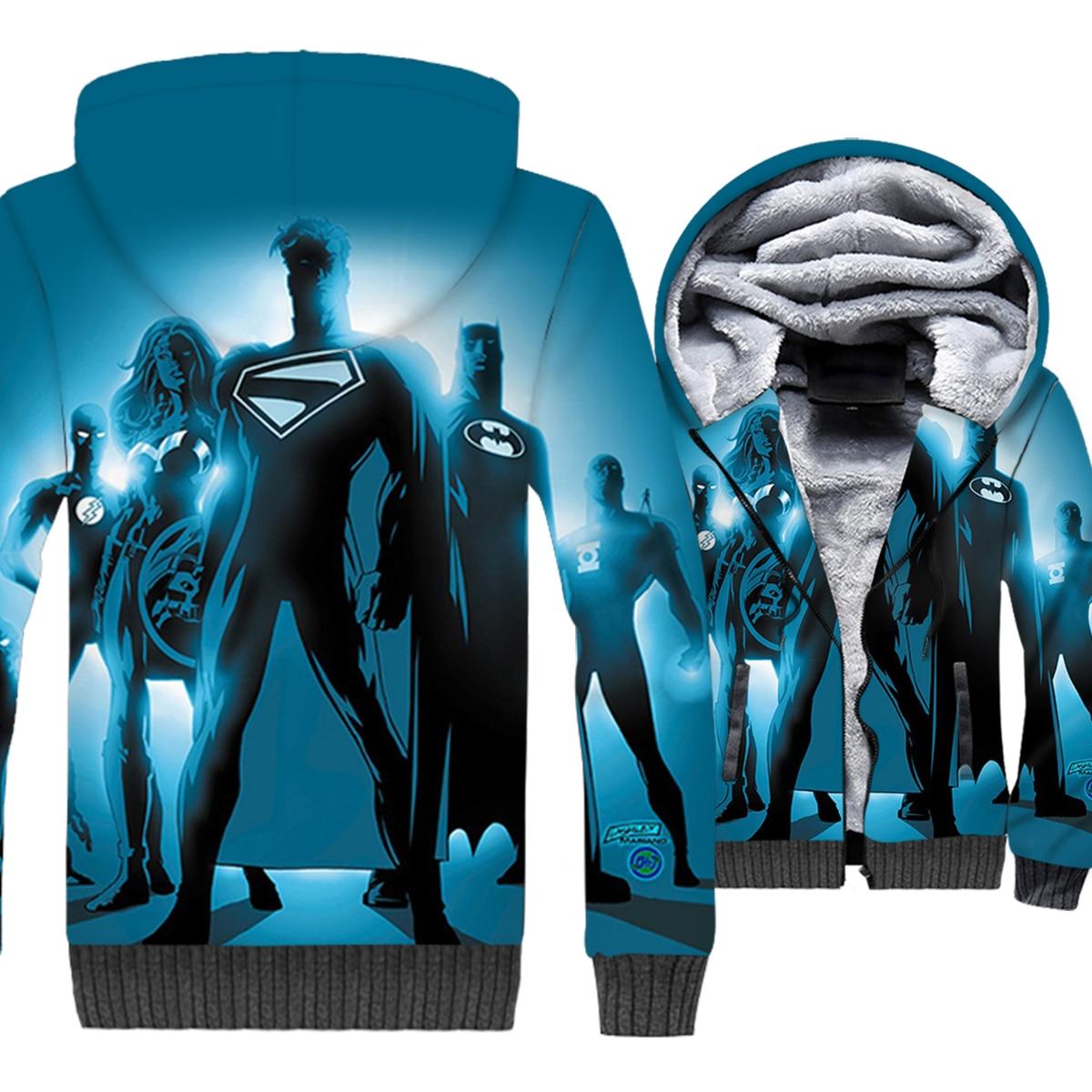Superhero Sweatshirt 2019 Winter Thick Jacket Hip Hop Men 39 s Zipper Coat Long Sleeve Anime Hoodies Harajuku Unisex Tracksuits Top in Hoodies amp Sweatshirts from Men 39 s Clothing