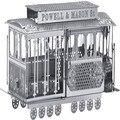 Playmobil 3D головоломки 2015 Рекламные скидки Русский серебряный 3D Нано металла DIY автобус обучающие игрушки для детей Подарок На День Рождения