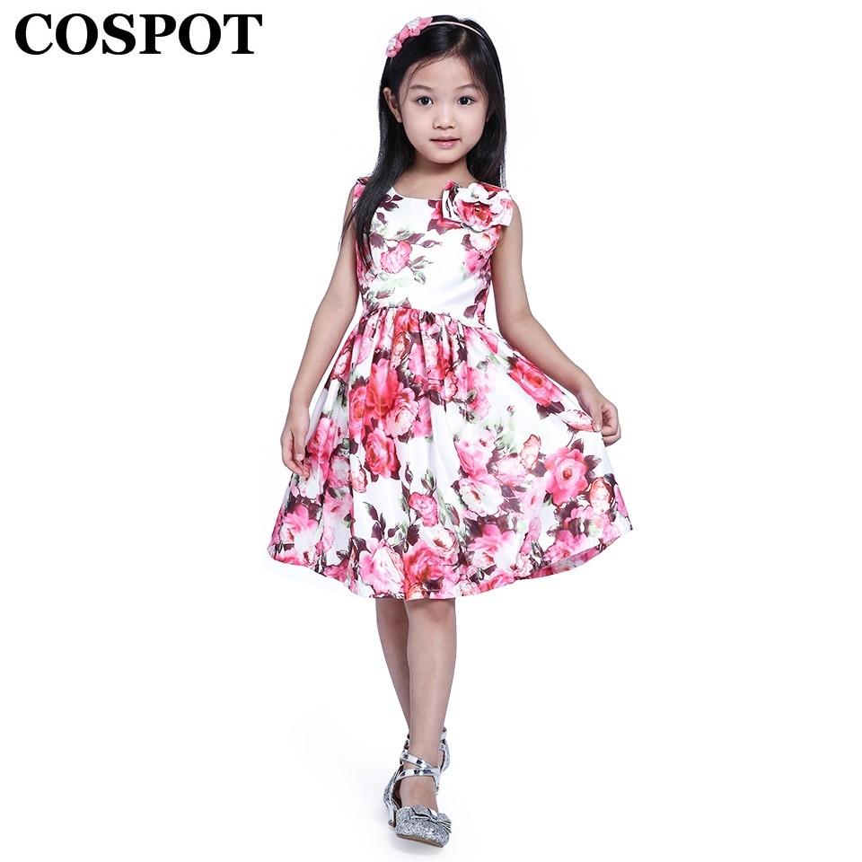 4b78ad7b26 COSPOT vestido de las niñas vestido de Bebé Ropa de verano para niños