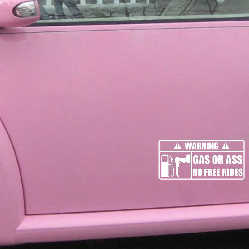 15*7 см Предупреждение газ или As Стикеры веселый автомобиль окно бампер Новинка JDM Drift виниловые наклейки на автомобиль