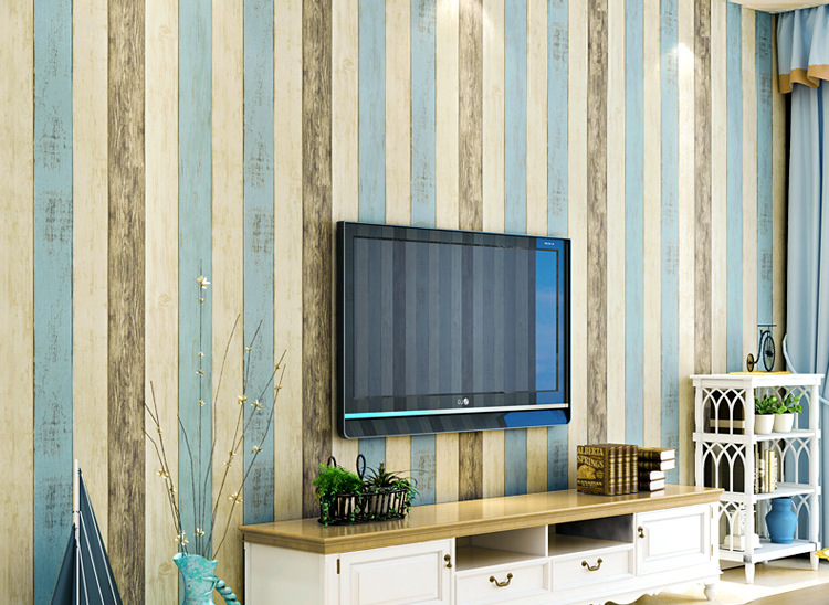 Self adhesive wallpaper the mediterranean sea style for Wallpaper home renovation