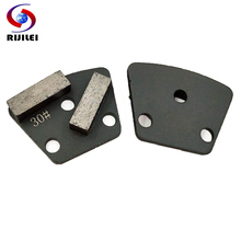 цены 6 PCS Trapezoid Metal Concrete Grinding Pad Scraper for strong Grinding disc of floor grinder Diamond Grinding Shoes JX03