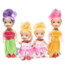 1Pc Fashion Cartoon Princess Dolls Sister Kelly Mini Toys For Little Doll Kids Birthday Gift