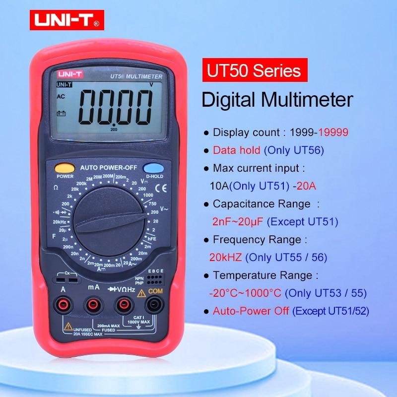 UNI T Multi function high precision digital multimeter UT51 UT52 UT53 UT55 UT56 Voltmeter Ammeter Ohmmeter