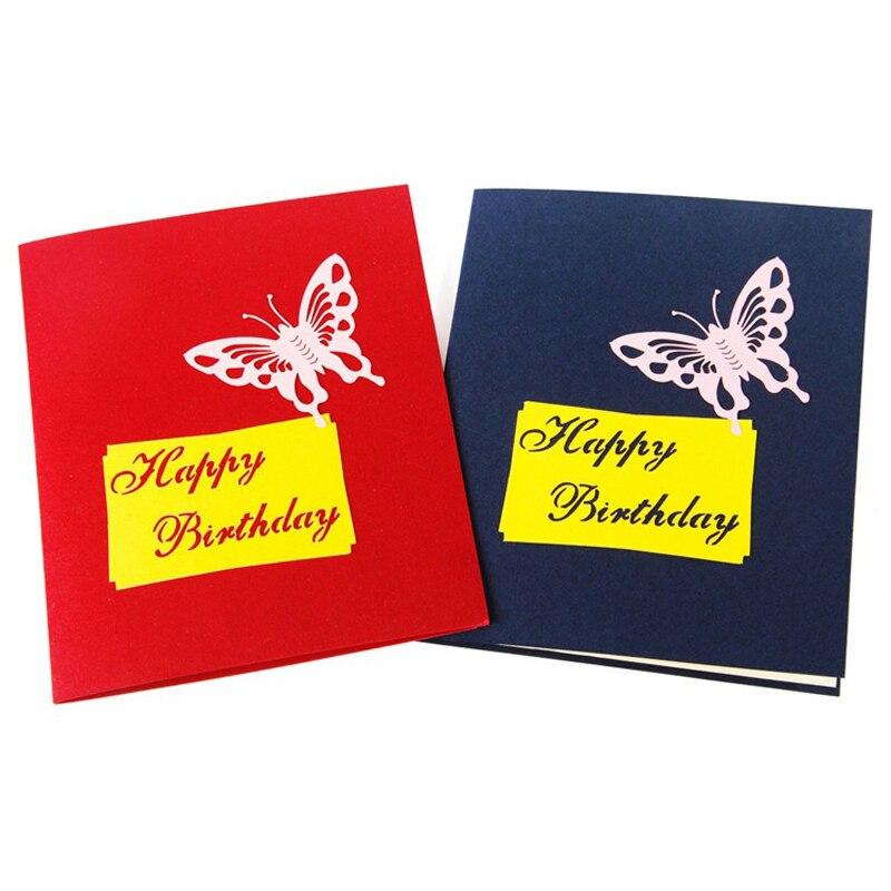 Aliexpress Buy 4 Pieceslot 3d Birthday Cake Greeting Card