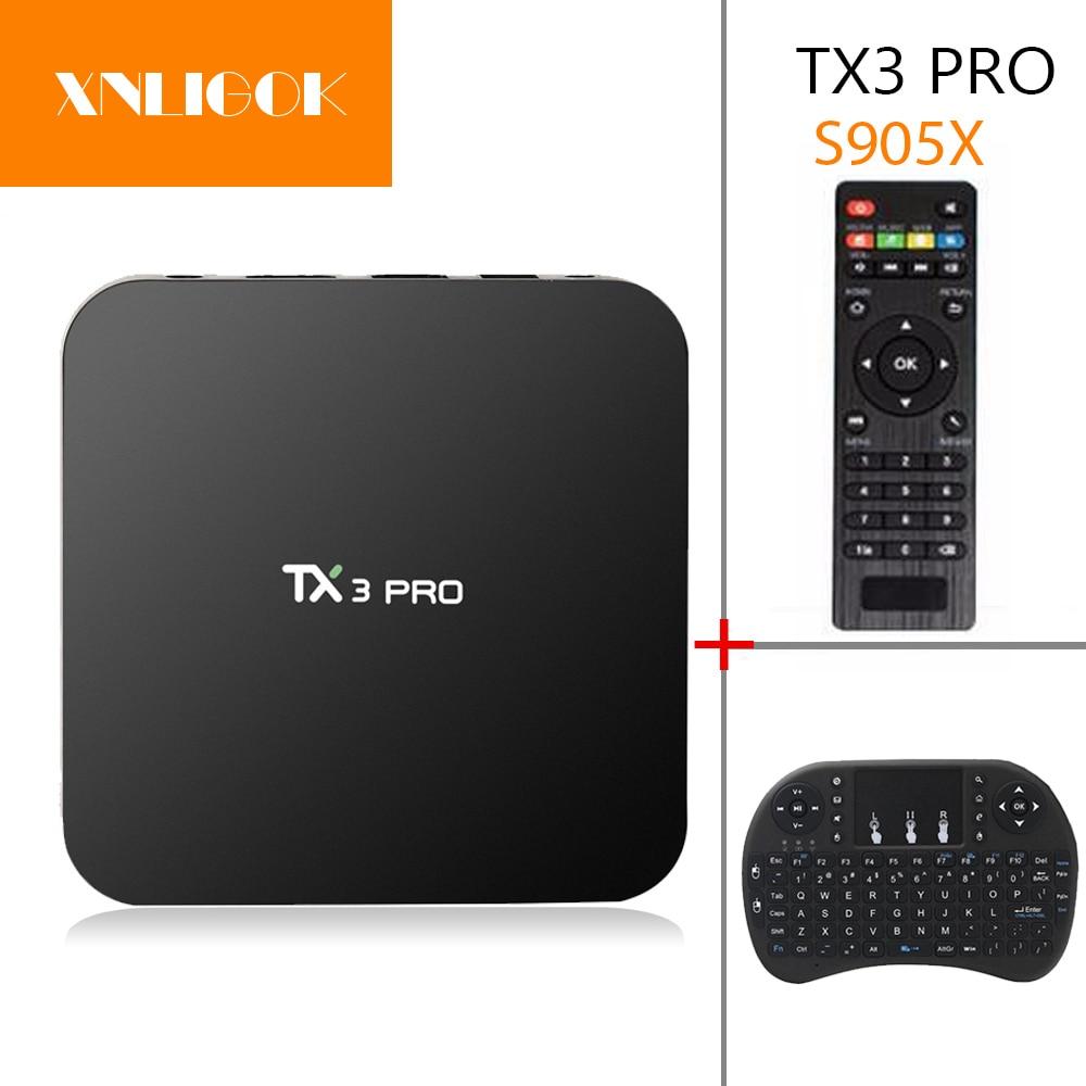 TX3 PRO Android 7.1 TV Box S905W Quad-core 1G 8G H.265 DLNA WiFi HD Media Player