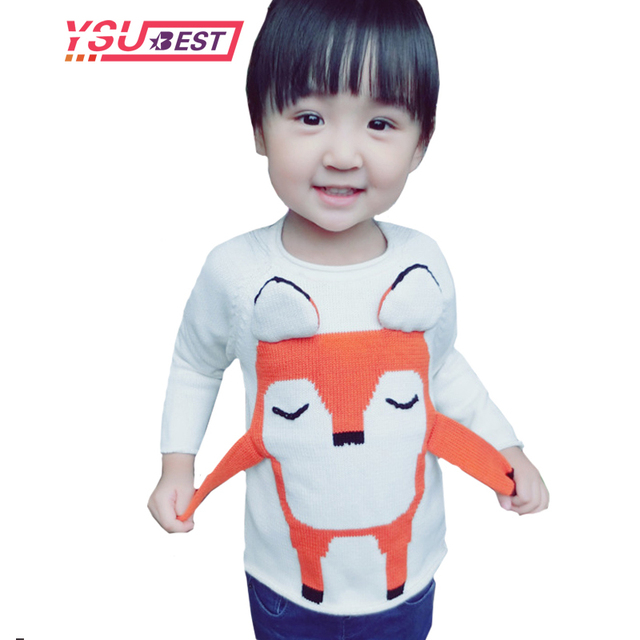 71eb2842be187 2018 Spring Gift Baby Boys Girls Clothes Pullovers Toddler 3D Cartoon  Animal Fox Pattern Knitted Sweater Kids Clothes Boy Tops-in Sweaters from  Mother ...
