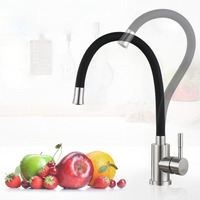 Multi Color Single Handle Kitchen Faucet Single Hole 360 Rotate Mixer Universal Kitchen Tap Stainless Steel