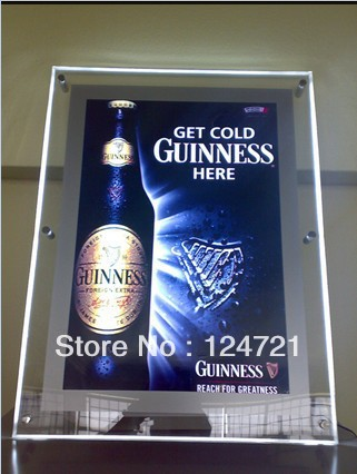 Advertisng Display LED Crystal Light Box Wall Mount Frame Signs