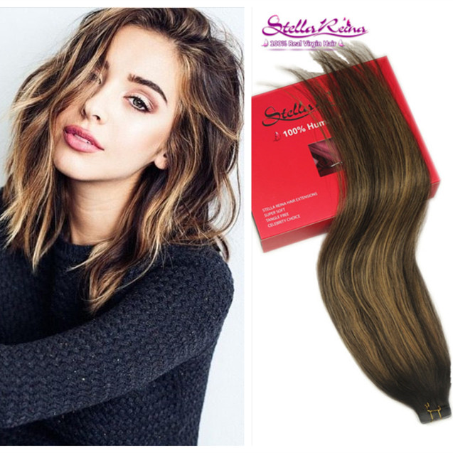 Stella Reina Brazilian Hair Ombre Balayage Clip In Hair Extension
