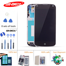 Sinbeda 100% Guarantee For LG Google Nexus 4 Optimus LCD For LG E960 LCD Display Digitizer Touch Screen with Frame Replacement $ for lg optimus g pro f240 lcd display with touch screen digitizer with frame assembly by free shipping 100