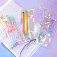 Iridescent Laser Pencil Case Quality pvc School Supplies Bts Stationery Gift Pencilcase School Cute Pencil Box Bts School Tools Pencil Cases